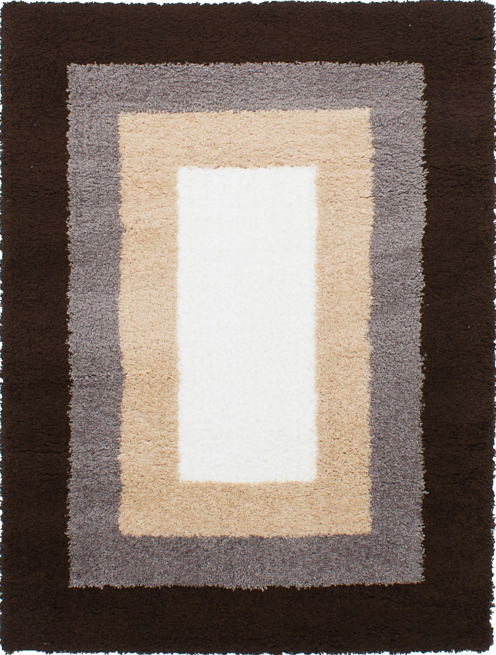 Purmerend Cream/Dark Brown Area Rug