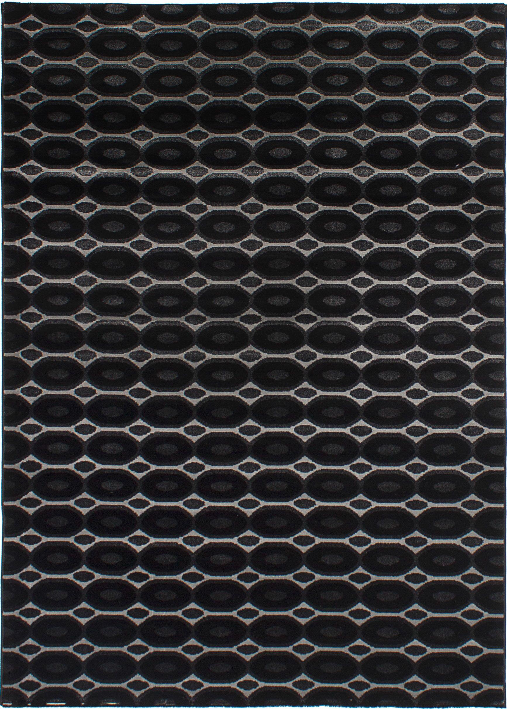 Griffie Black/Light Gray Area Rug