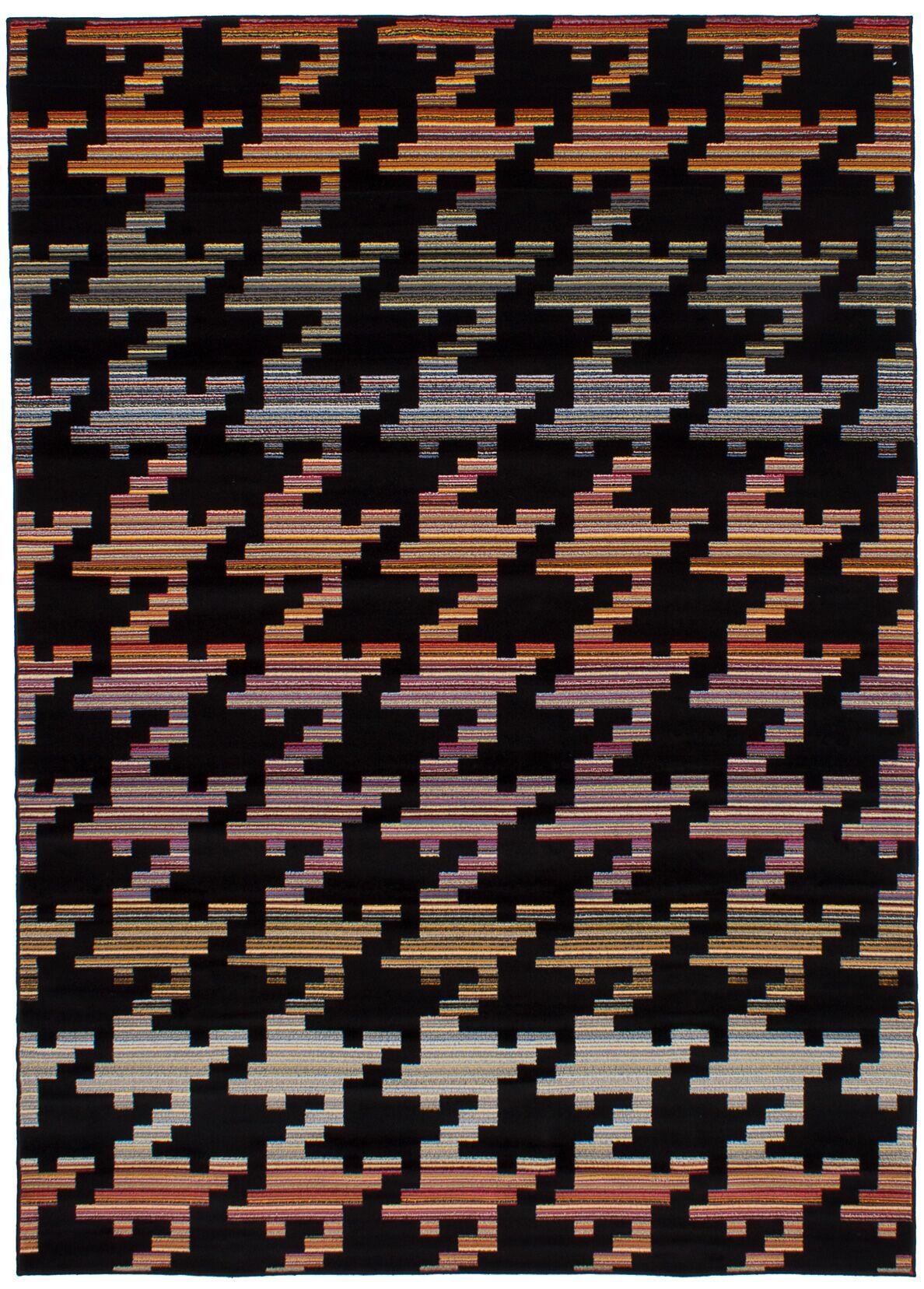 Leeper Black Area Rug
