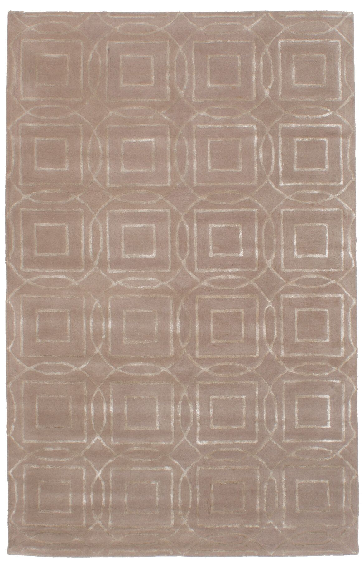 Griffing Hand-Tufted Wool/Silk Tan Area Rug
