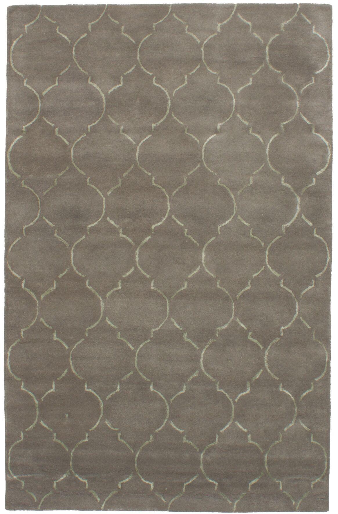 Hartland Hand-Tufted Wool/Silk Gray Area Rug