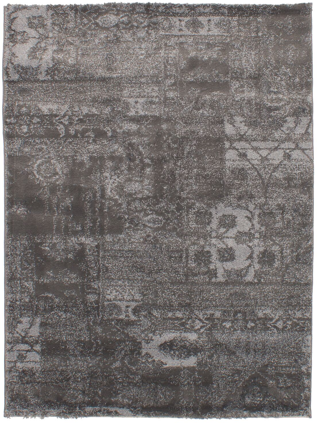 Decarlo Gray Area Rug Rug Size: Rectangle 4'7