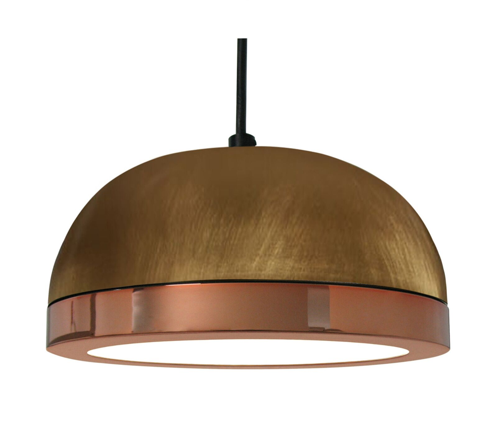 Tooy Molly 1-Light  LED Dome Pendant Shade Color: Copper, Size: 4