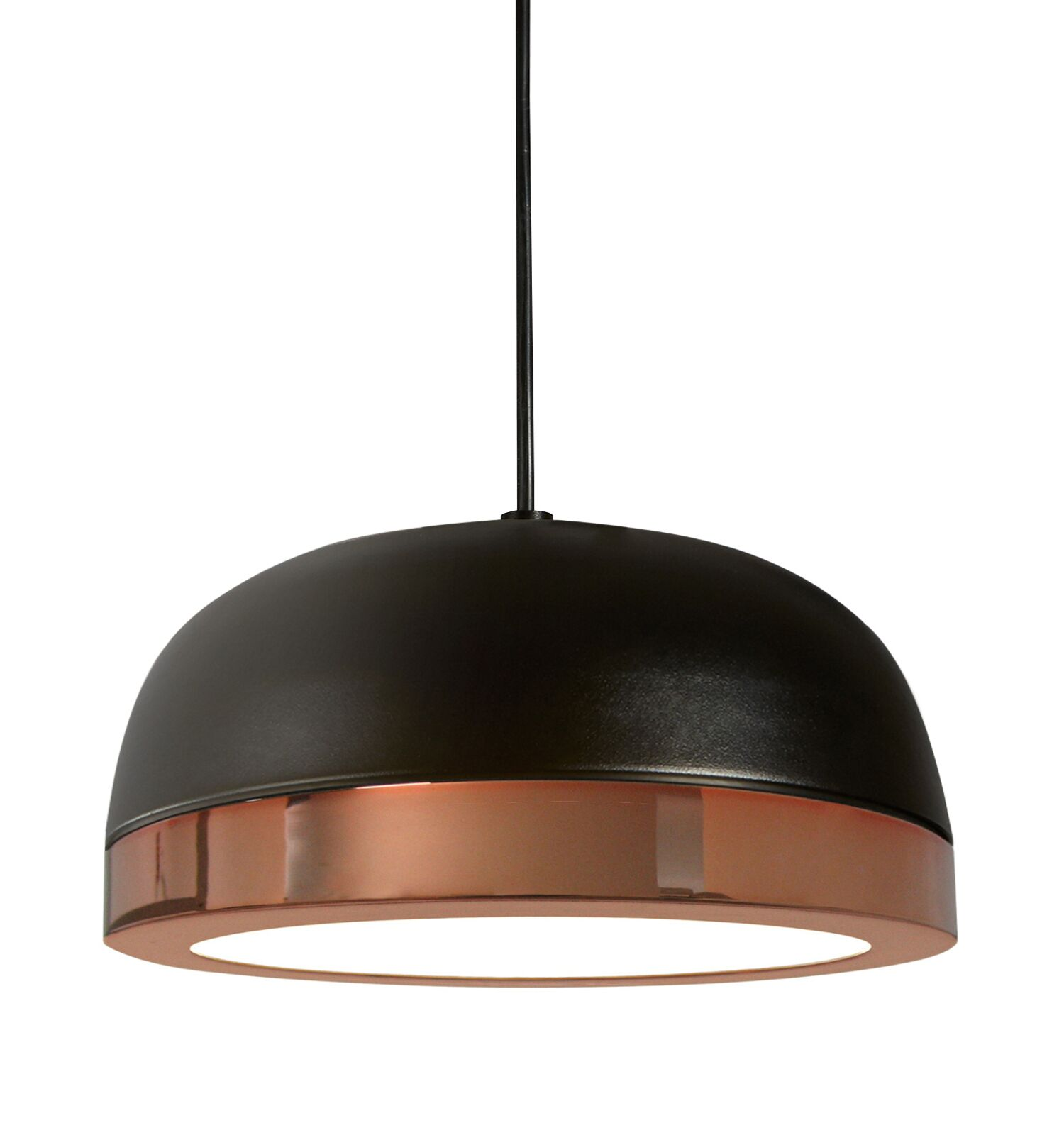 Tooy Molly 1-Light  LED Dome Pendant Shade Color: Black/Copper, Size: 6.5