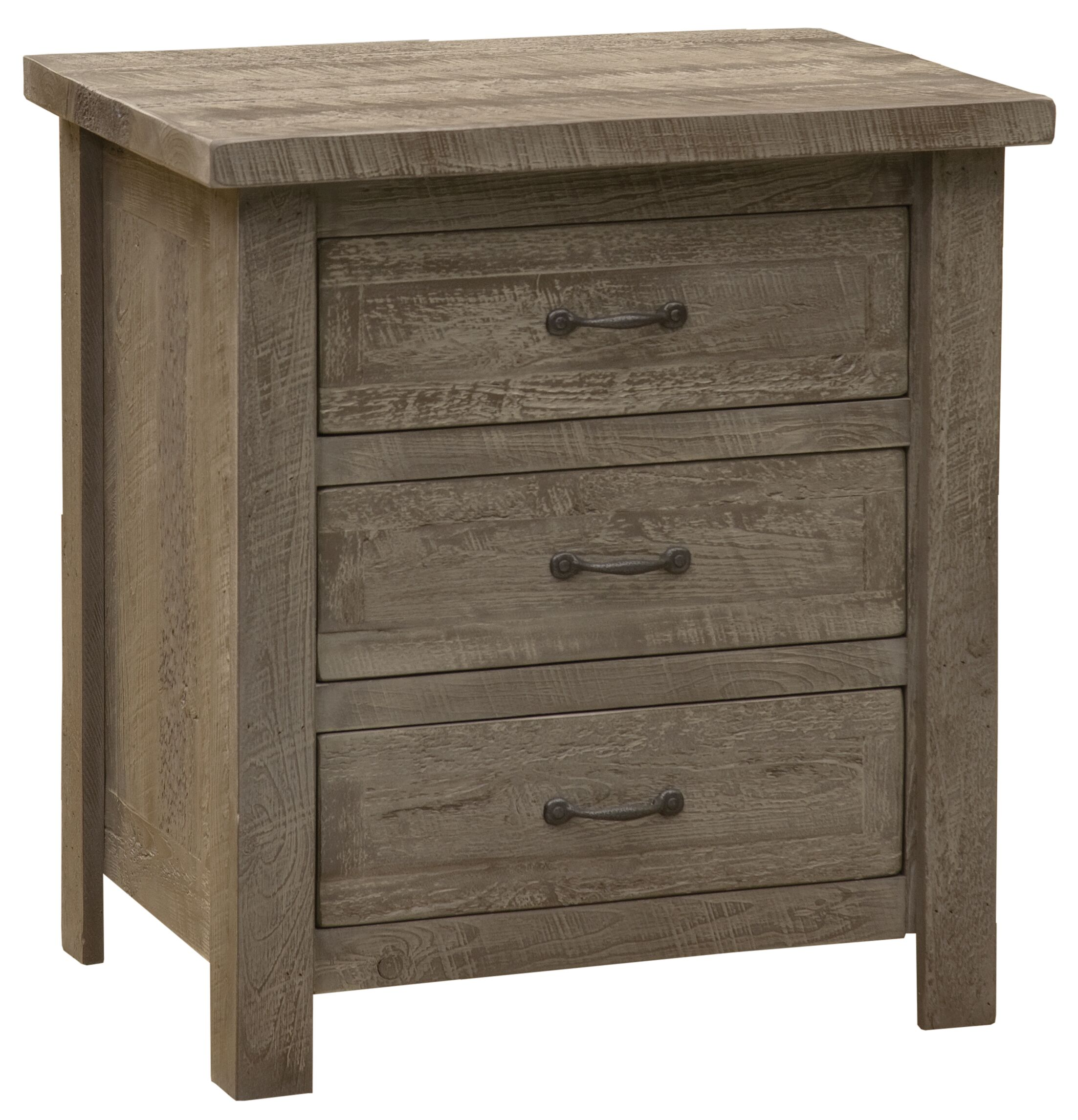 Frontier 3 Drawer Nightstand Color: Driftwood