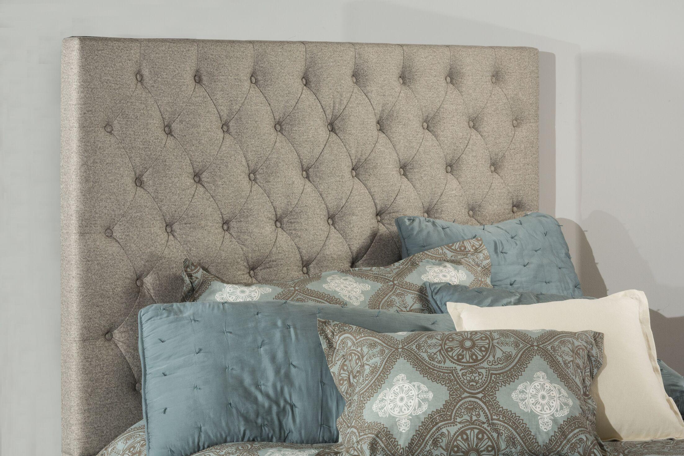 Keesee Upholstered Panel Headboard Size: King, Color: Beige