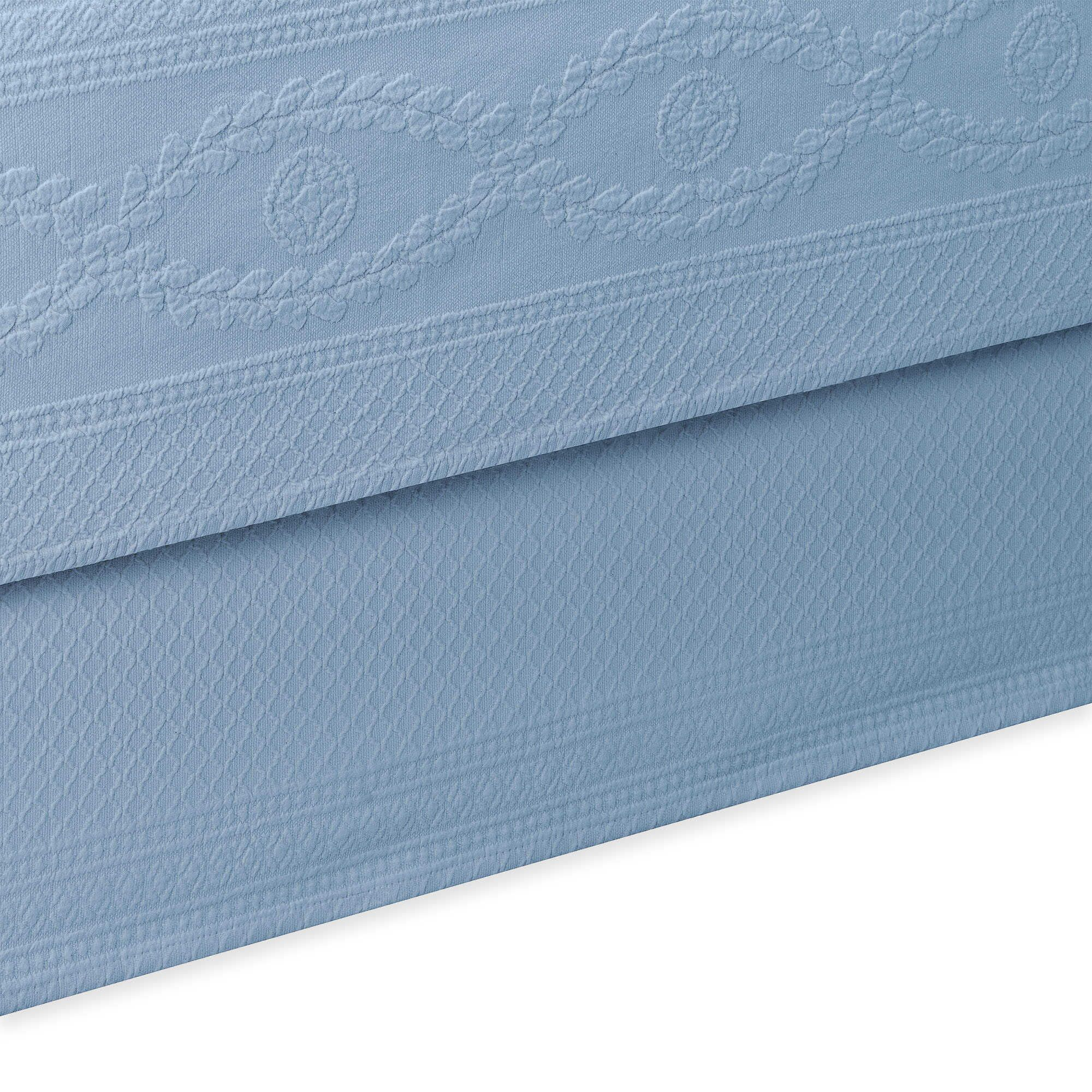 Williamsburg Abby Bed Skirt Color: Blue, Size: Queen