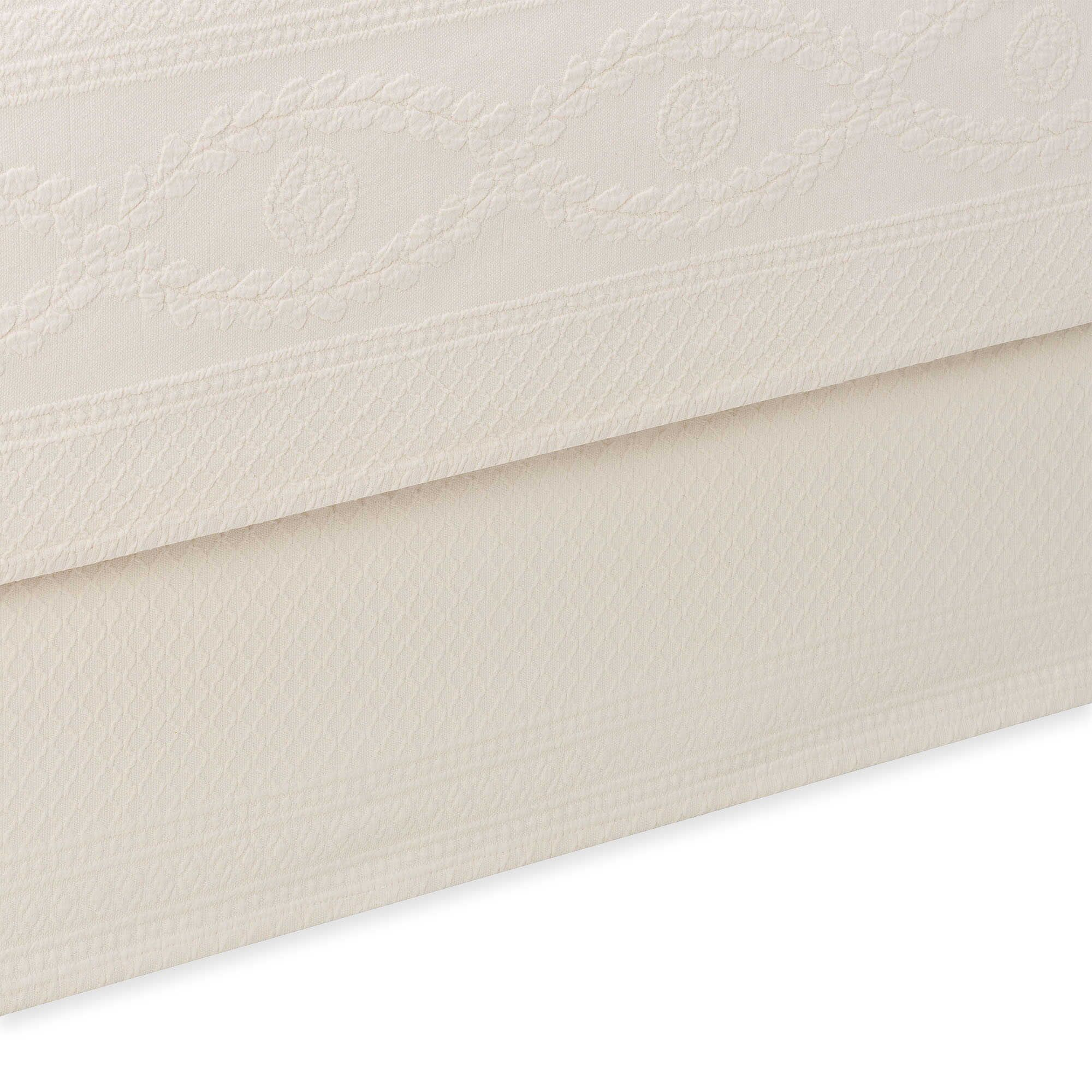 Williamsburg Abby Bed Skirt Color: Ivory, Size: King