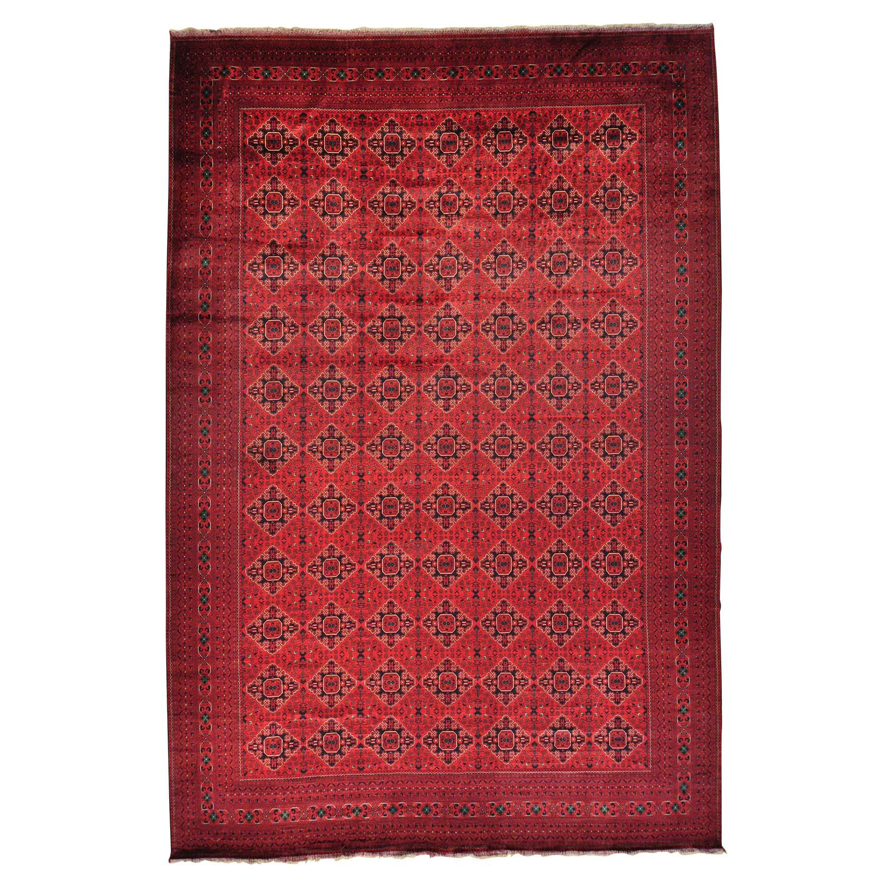 One-of-a-Kind Mansion Afghan Khamyab Hand-Knotted Red Area Rug