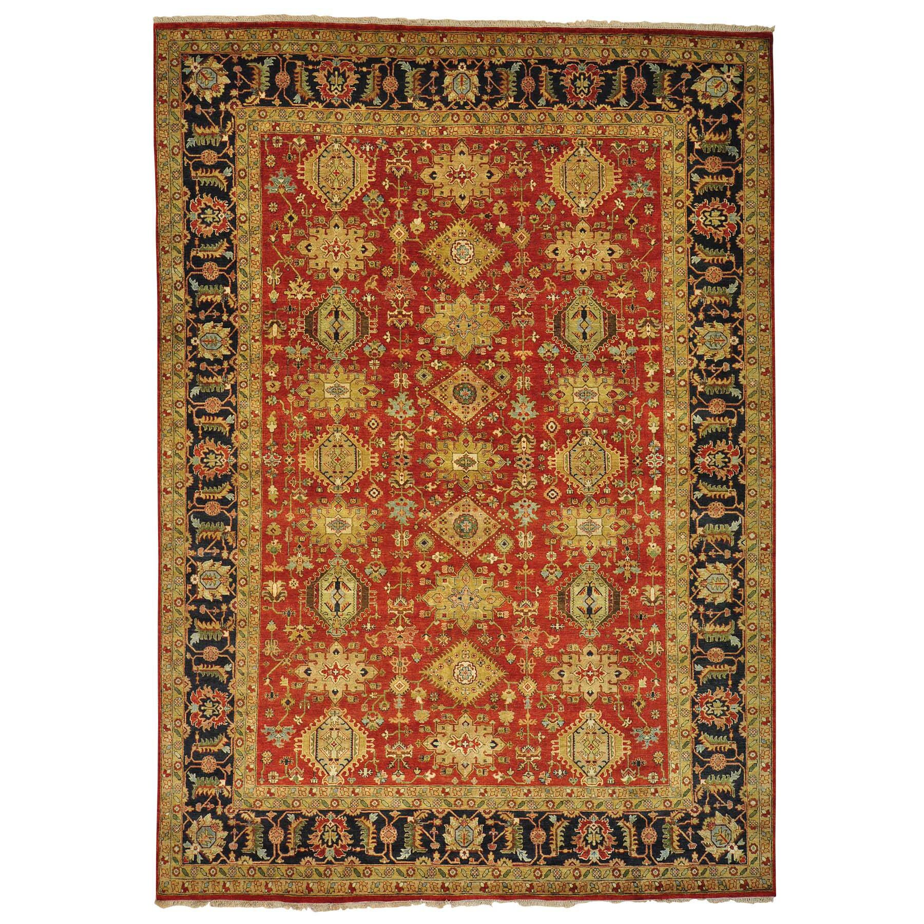One-of-a-Kind Lavinia Hand-Knotted Red Area Rug