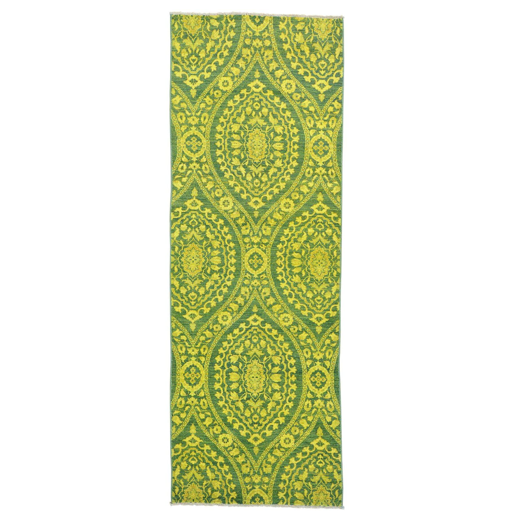 One-of-a-Kind Greear Hand-Knotted Yellow Area Rug