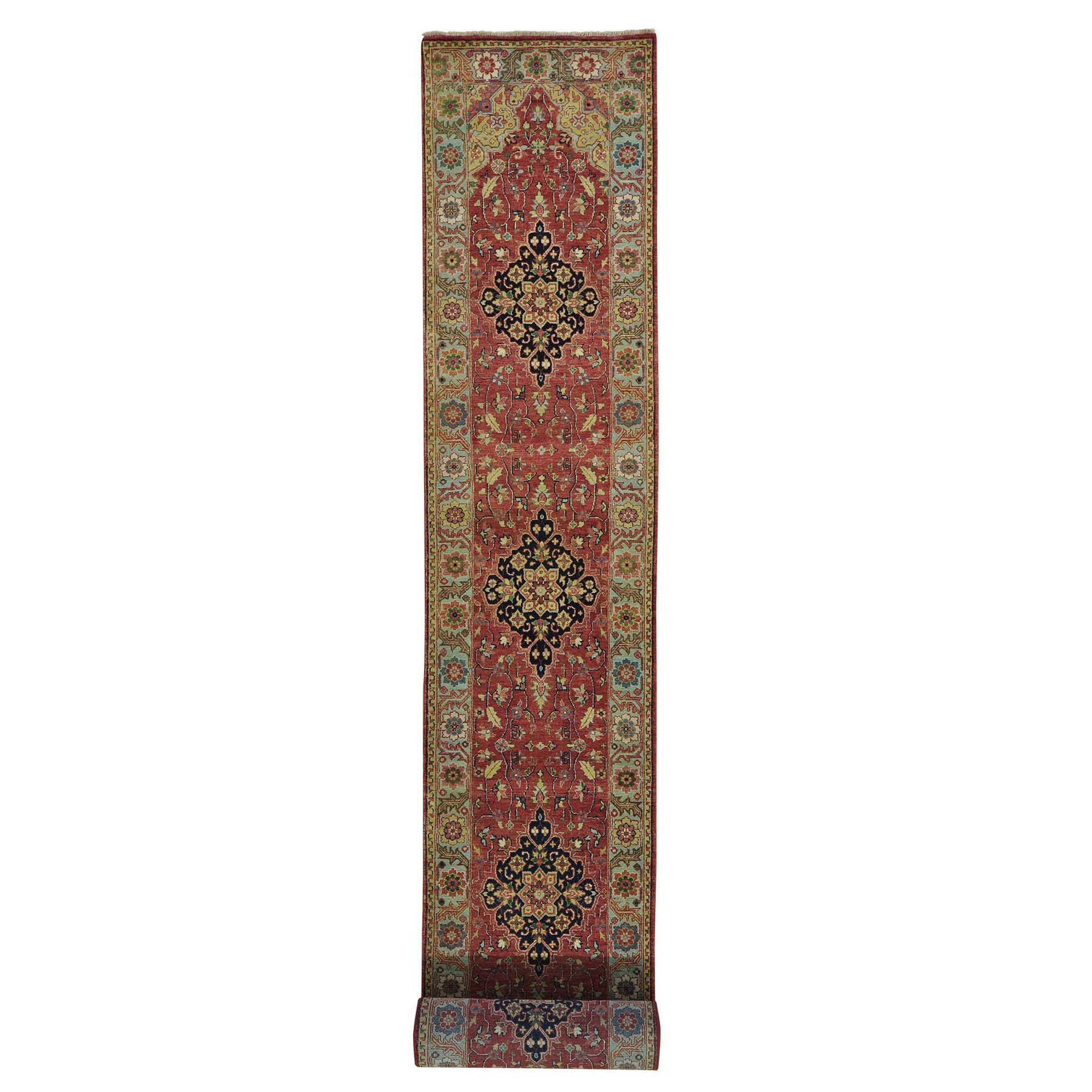 One-of-a-Kind Rudolph Hand-Knotted Rust Red Area Rug Rug Size: Runner 2'5