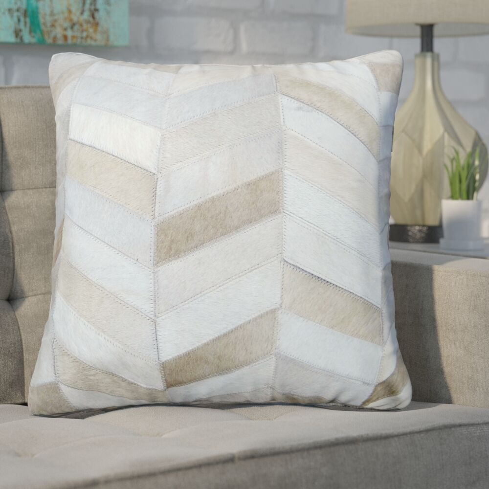 Freshford Leather Throw Pillow Pillow Cover Color: Ivory