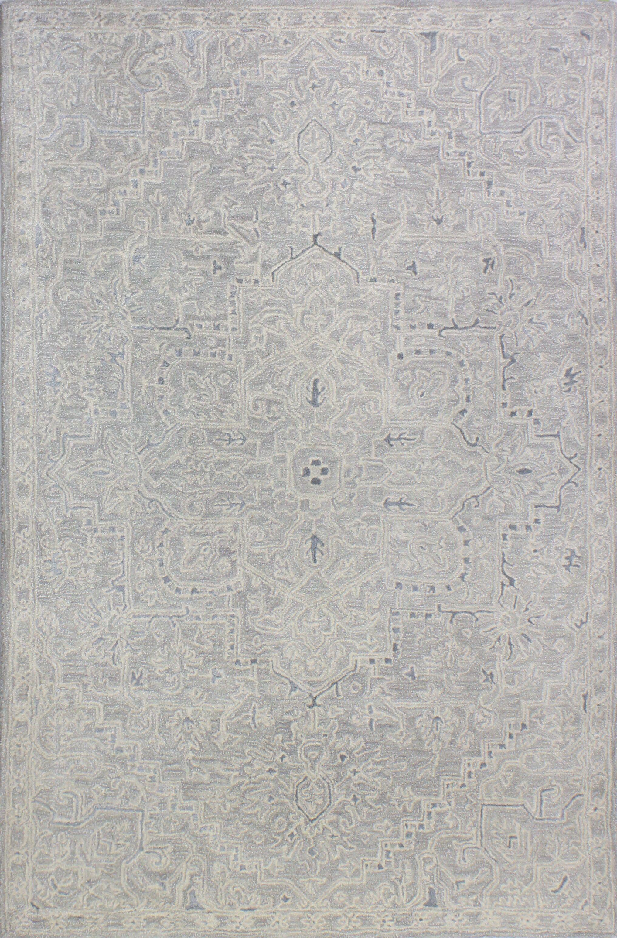 Kinman Hand-Woven Silver Area Rug Rug Size: Rectangle 8'6