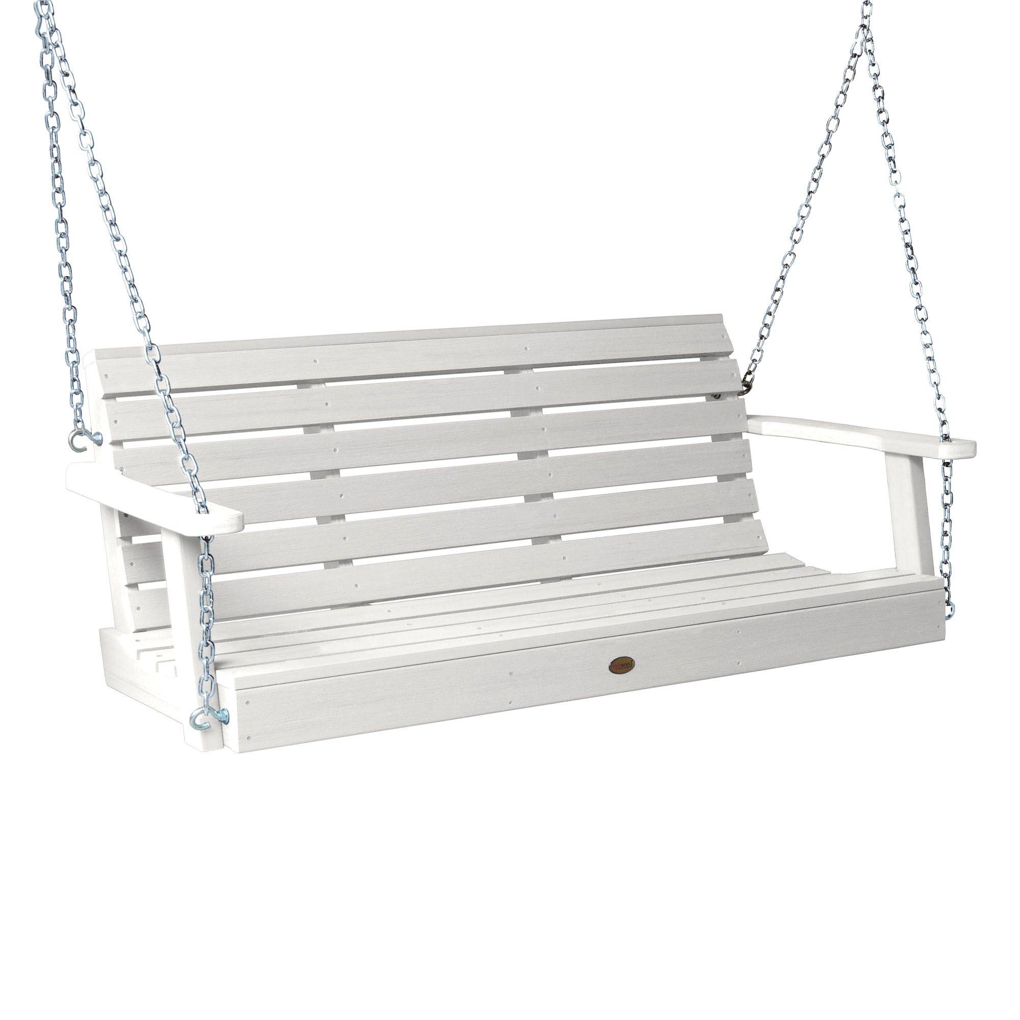 Shondra Porch Swing Finish: White, Size: 22