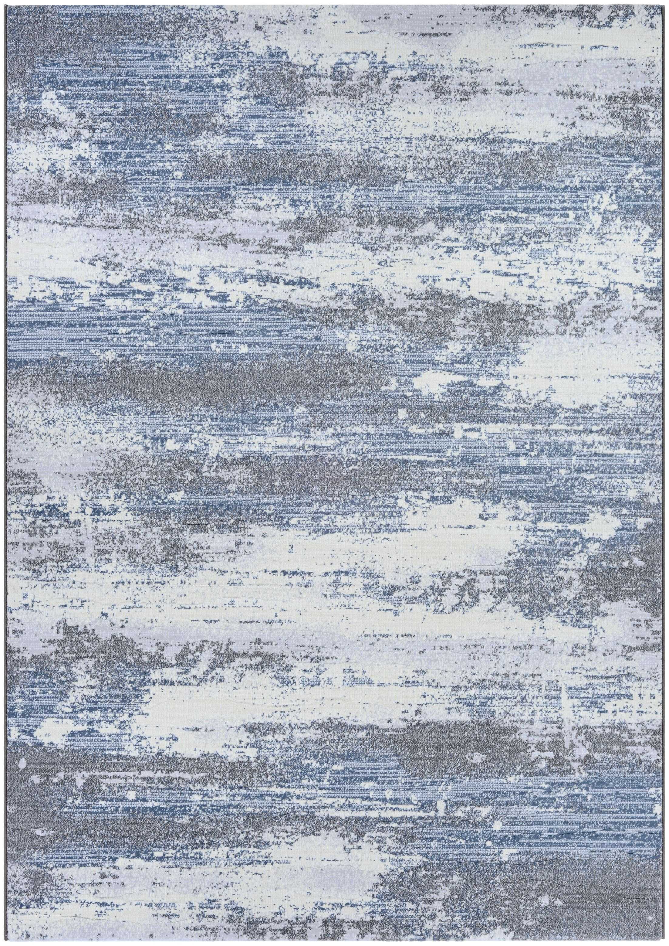 Driggers Gray/Blue Area Rug Rug Size: Rectangle 7'10