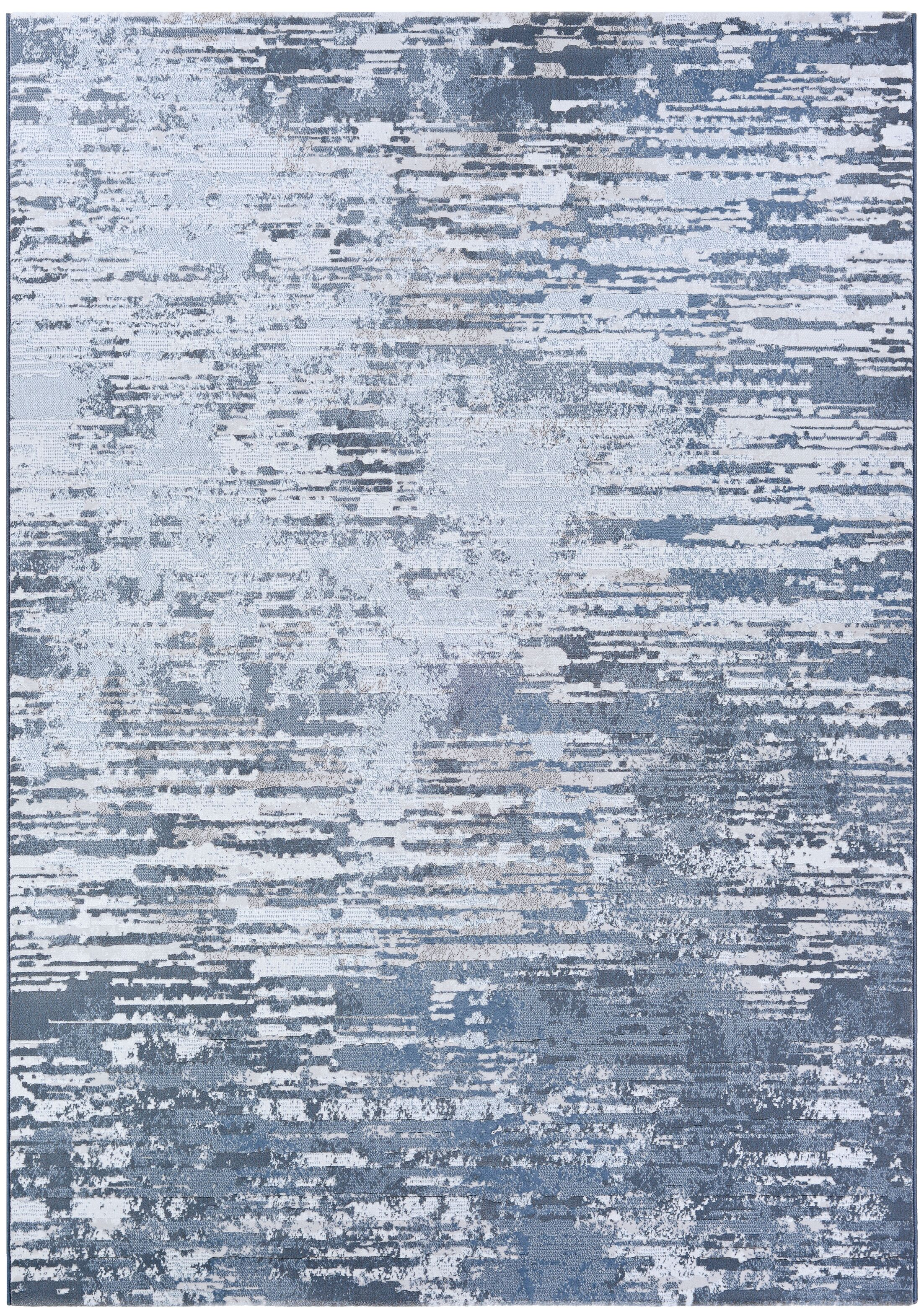 Driggers Gray/White Area Rug Rug Size: Rectangle 5'3