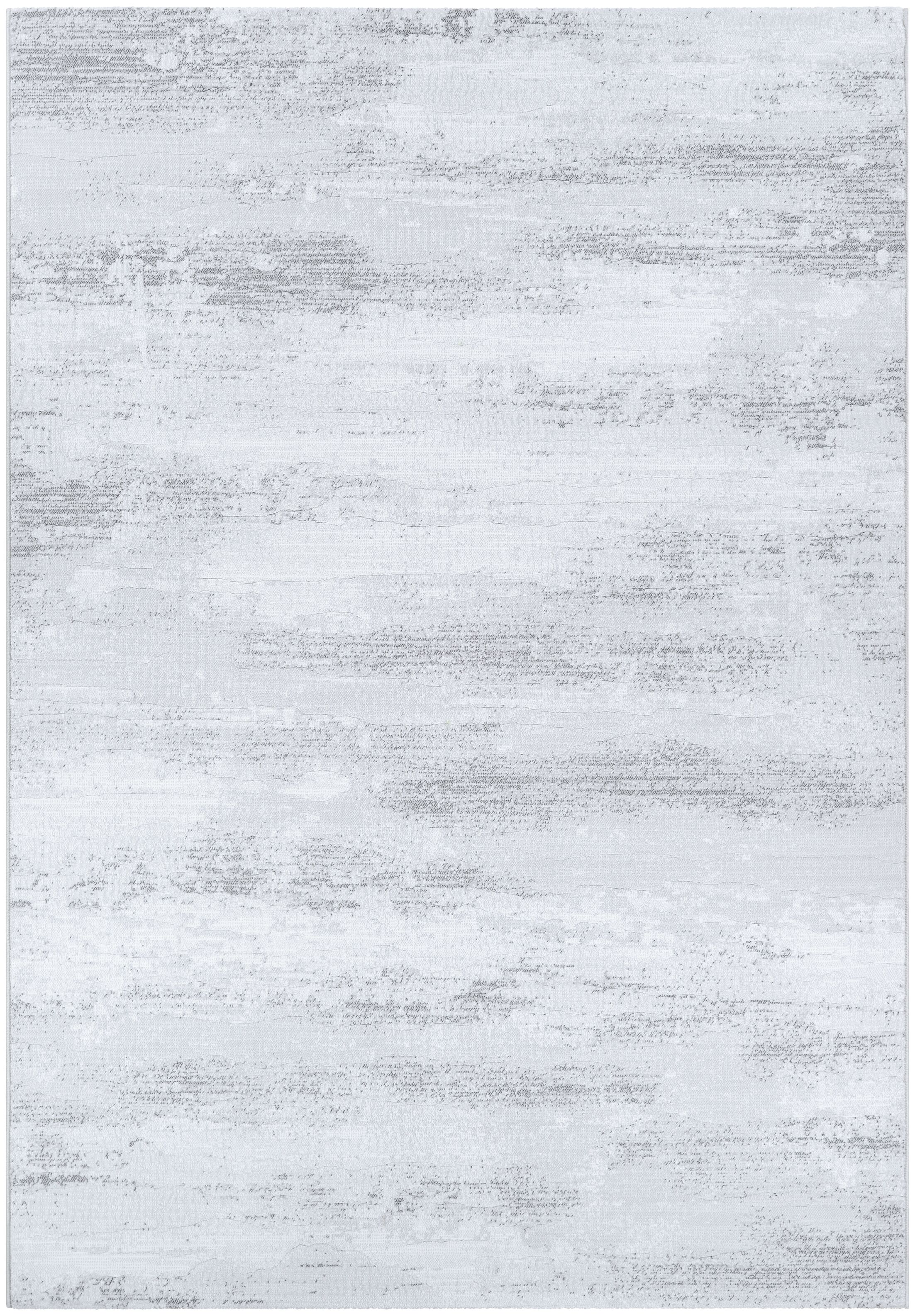 Driggers Light Gray/White Area Rug Rug Size: Rectangle 9'2
