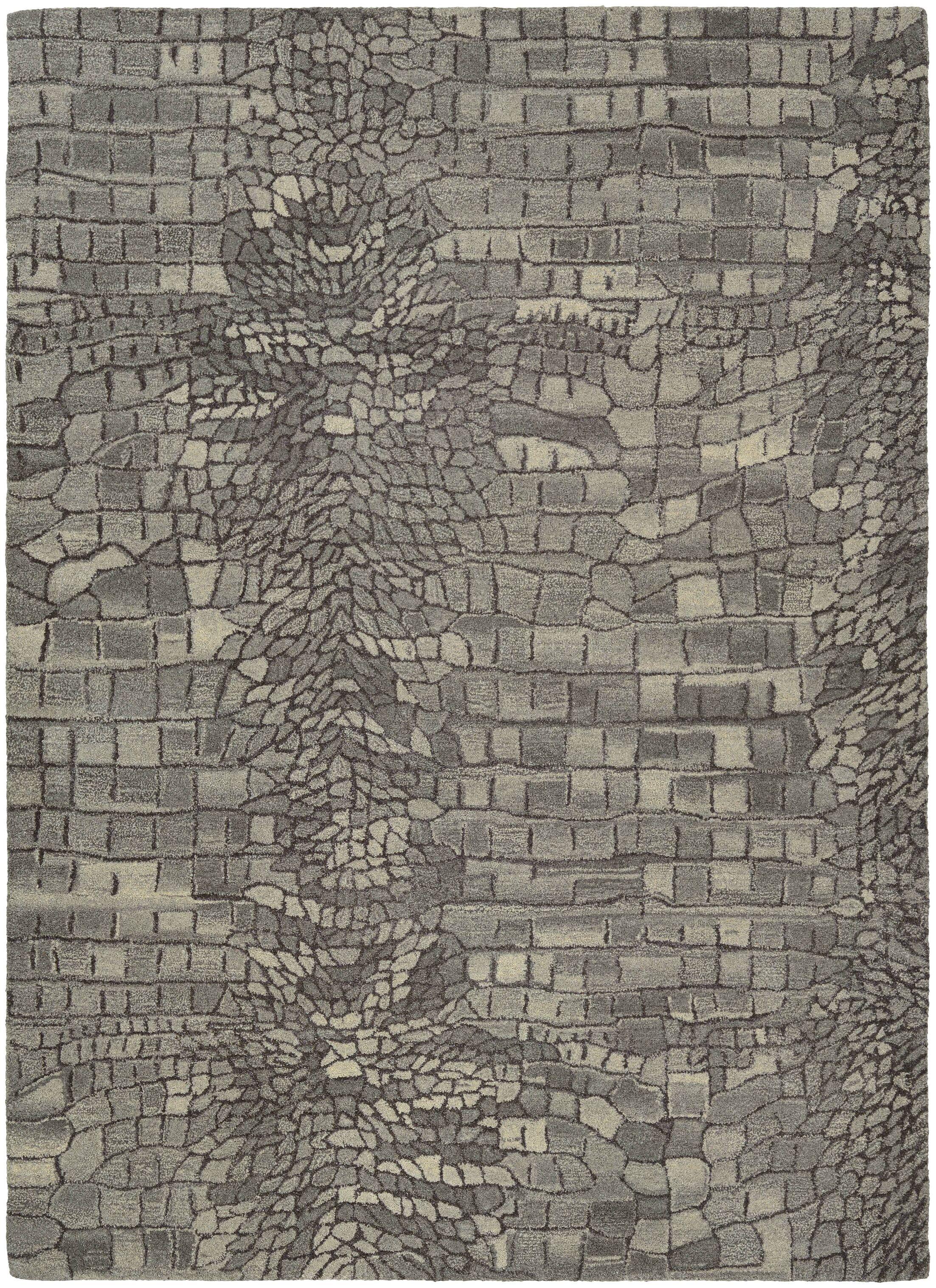 Noell Hand-Woven Wool Graystone Area Rug Rug Size: Rectangle 5'6