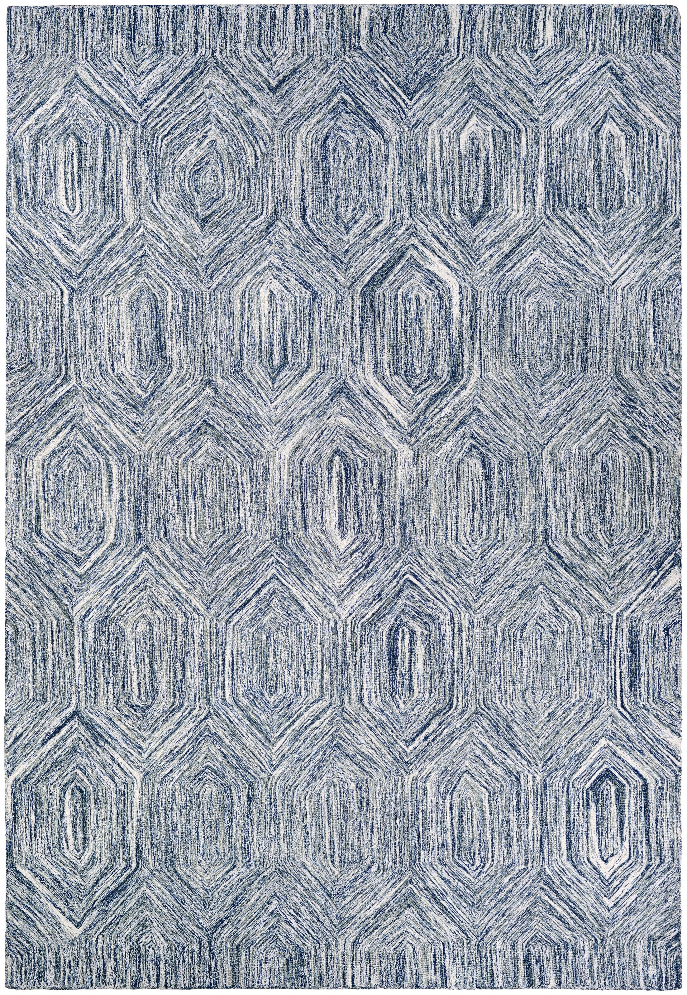 Crabill Hand-Woven Blue/Gray Area Rug Rug Size: Rectangle 5' x 8'