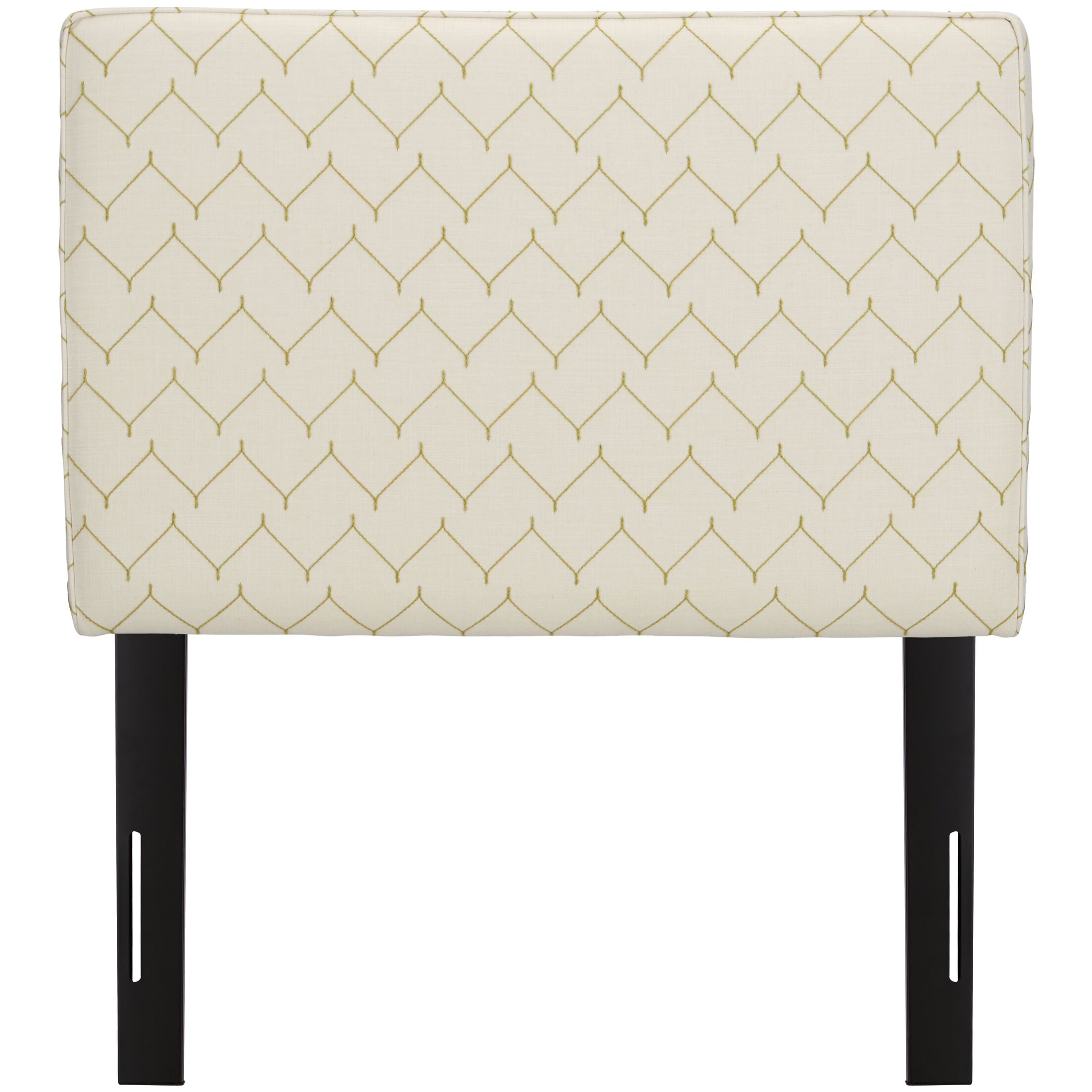 Patchway Box Seam Upholstered Panel Headboard Size: Twin, Upholstery: Panama