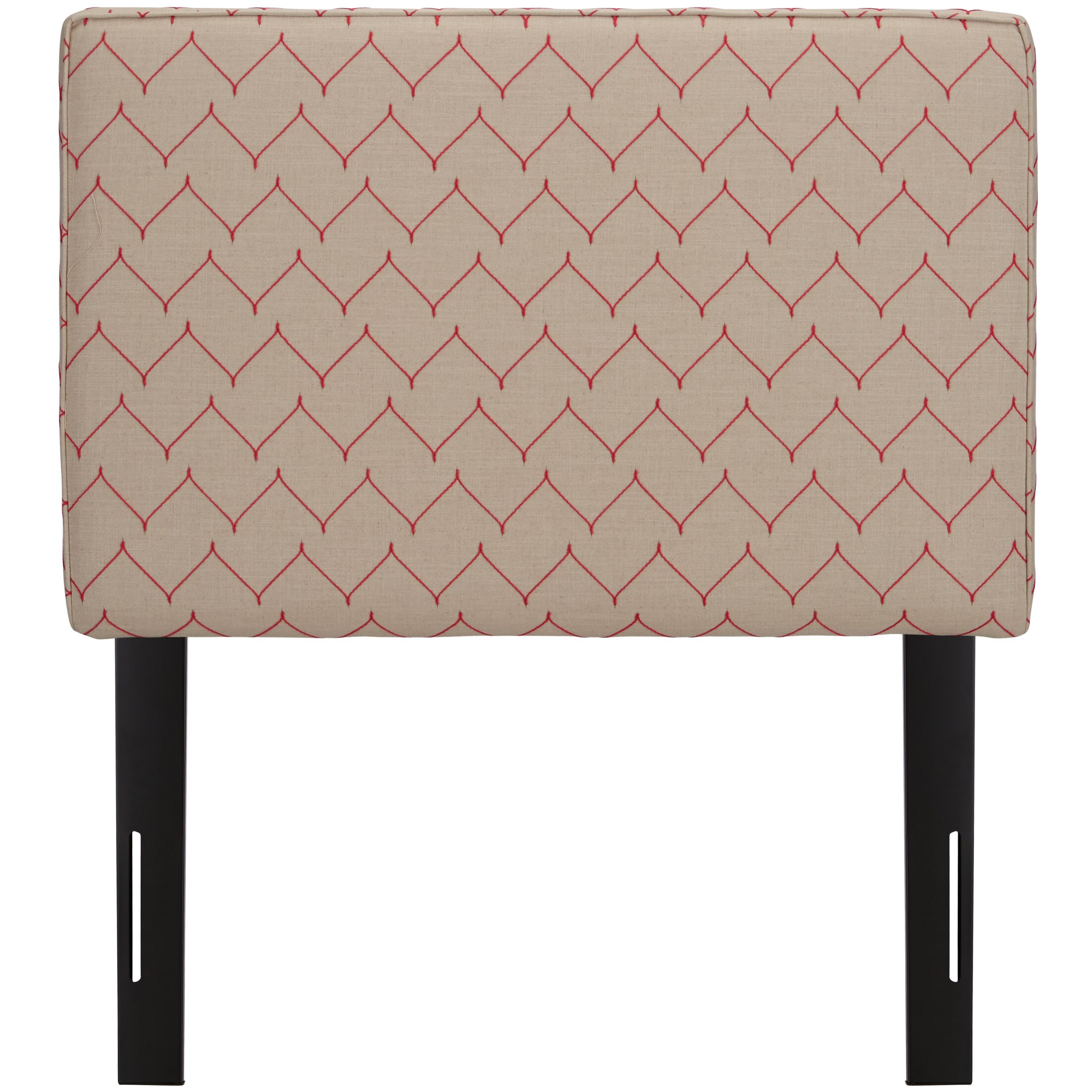 Patchway Box Seam Upholstered Panel Headboard Size: Twin, Upholstery: Rosario