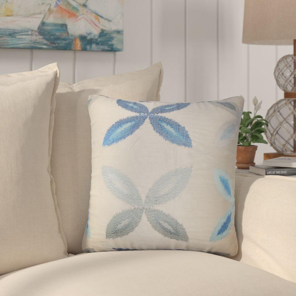 Bahama Ikat Throw Pillow Color: Blue