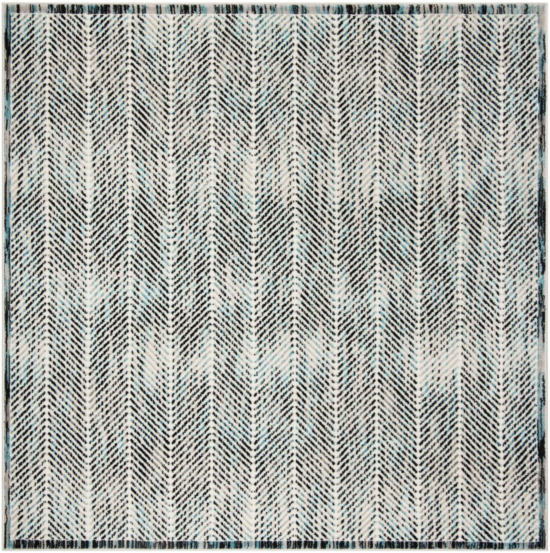 Coggin Gray Area Rug Rug Size: Square 6'7