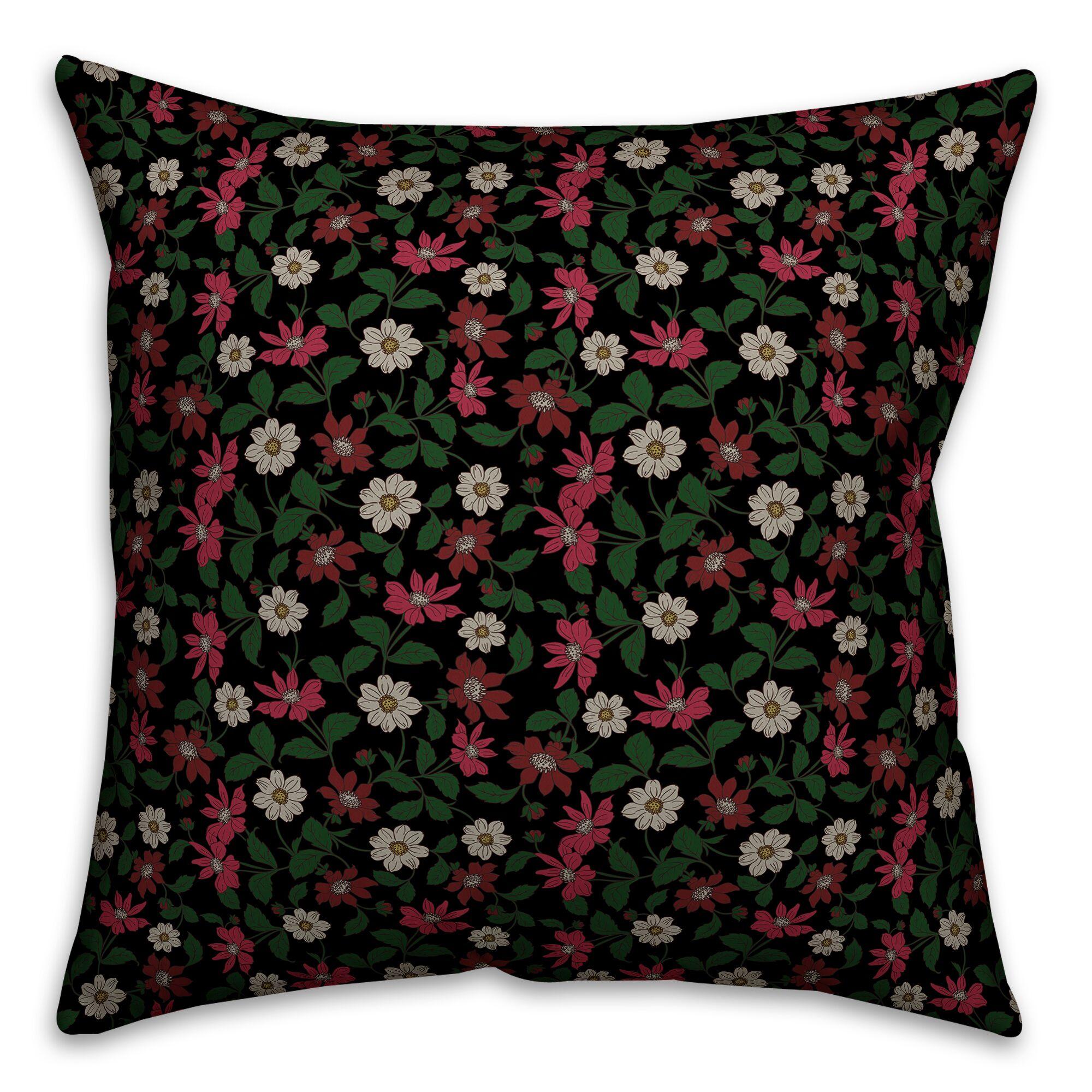 Oshea Floral Garden Throw Pillow