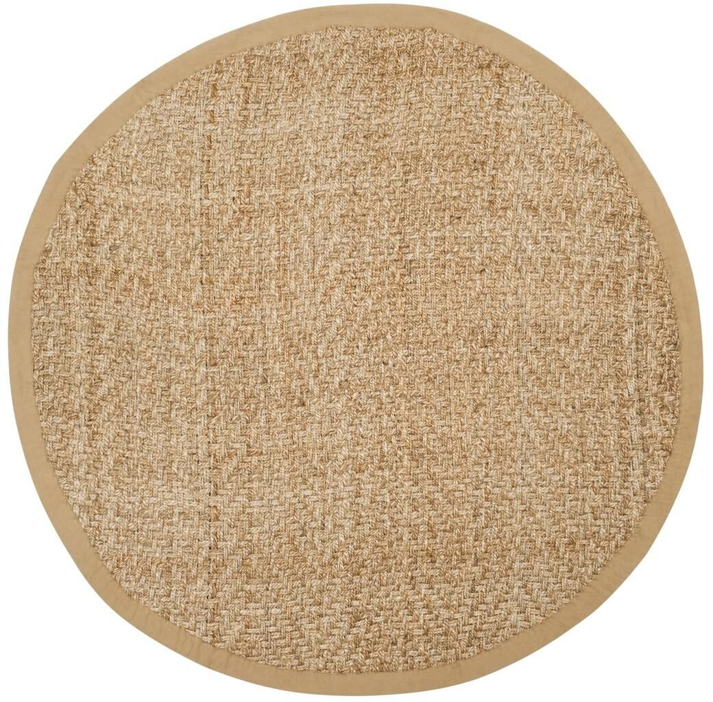 Clea Fiber Hand-Woven Natural Area Rug Rug Size: Round 6'