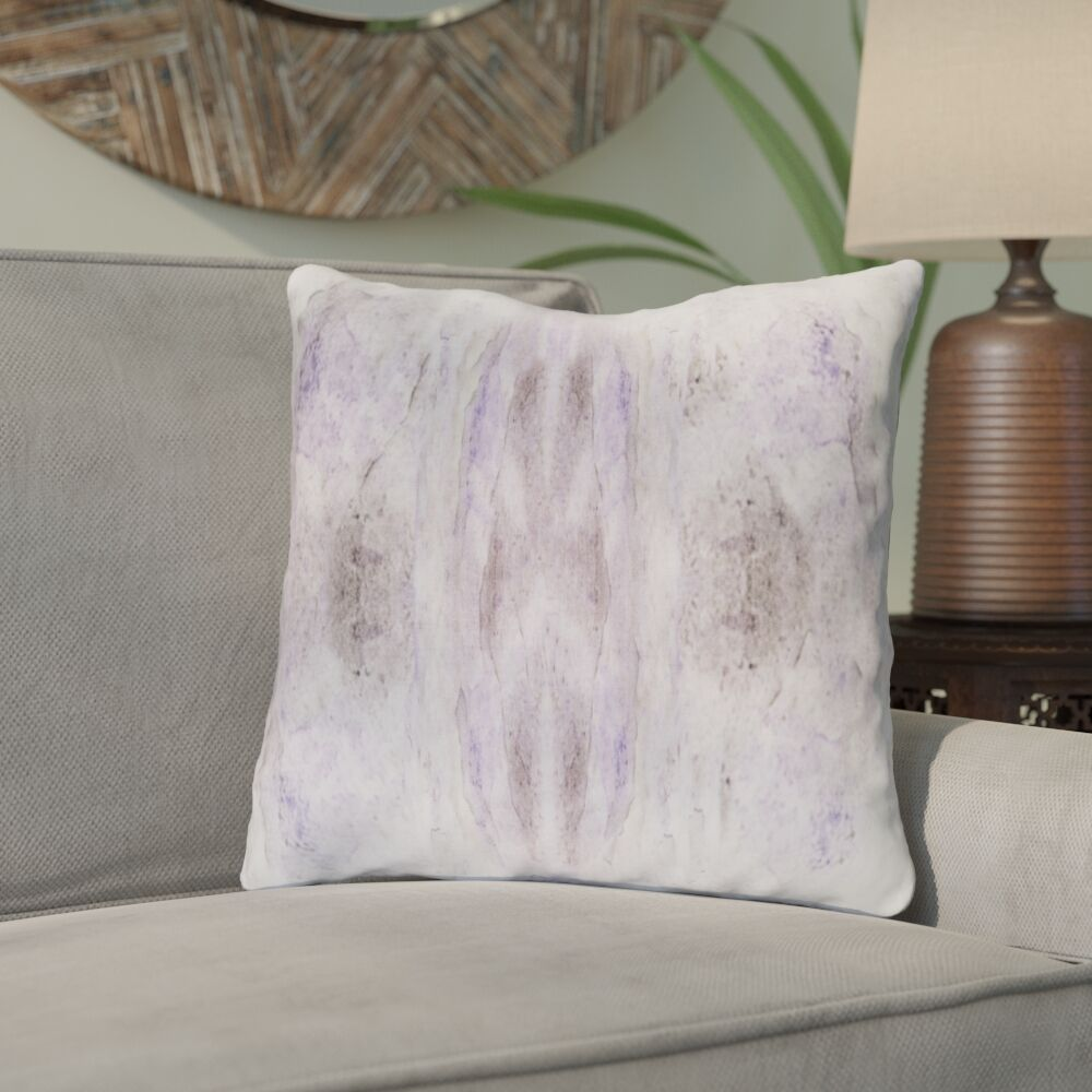 Antram Silk Throw Pillow Color: Purple/Neutral, Size: 20