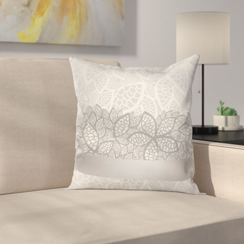 Lace Square Cushion Pillow Cover Size: 16