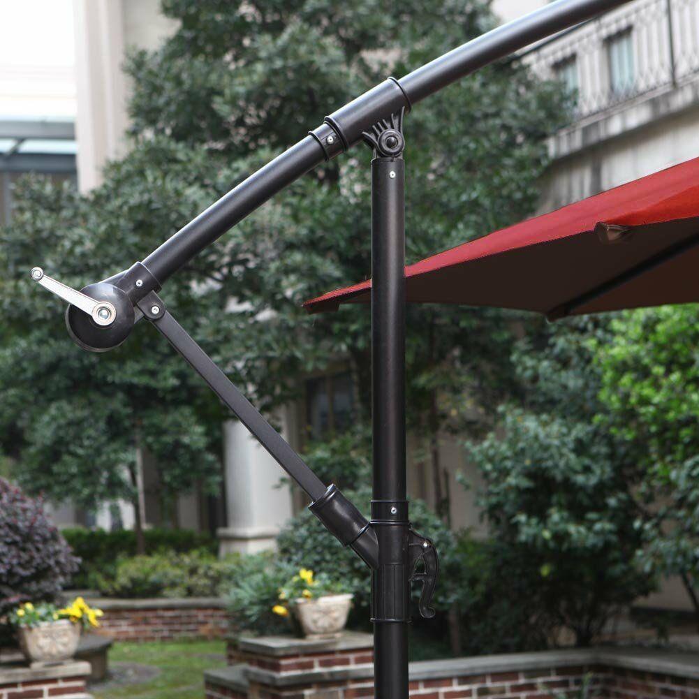 Hollon 10' Cantilever Umbrella Fabric Color: Red