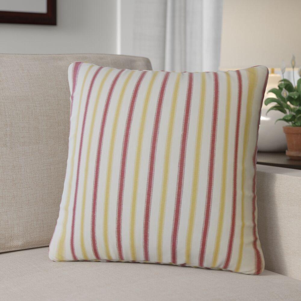Camela Striped Down Filled 100% Cotton Throw Pillow Size: 20