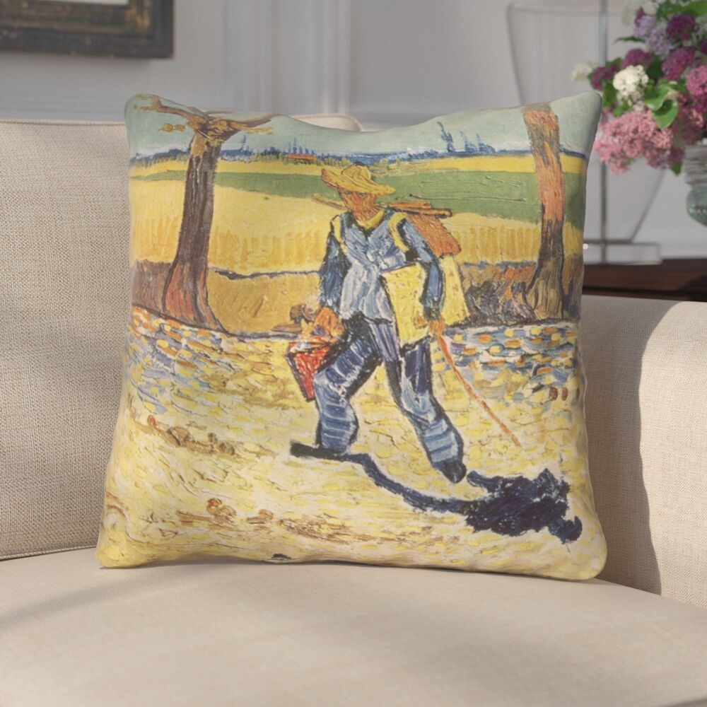 Zamora Self Portrait Square Zipper Indoor Throw Pillow Size: 26