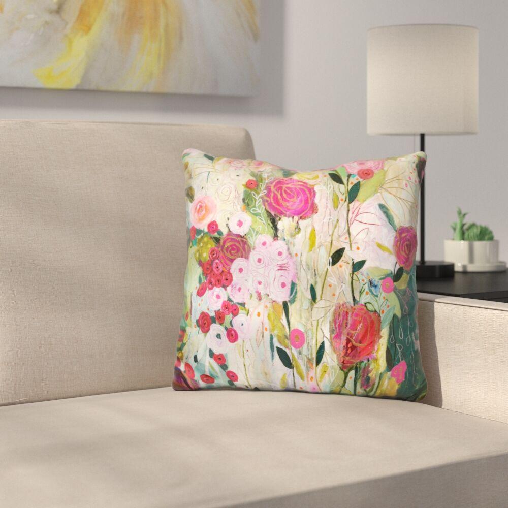 Mastin Wild Rose Throw Pillow