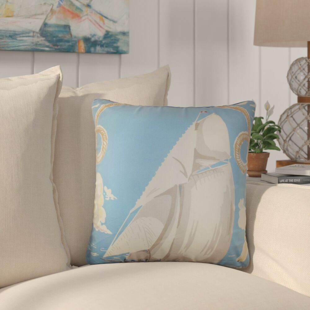 Zisow Coastal Cotton Throw Pillow