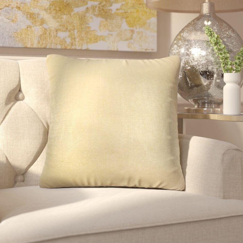 Alivia Solid Linen Throw Pillow Color: Caramel