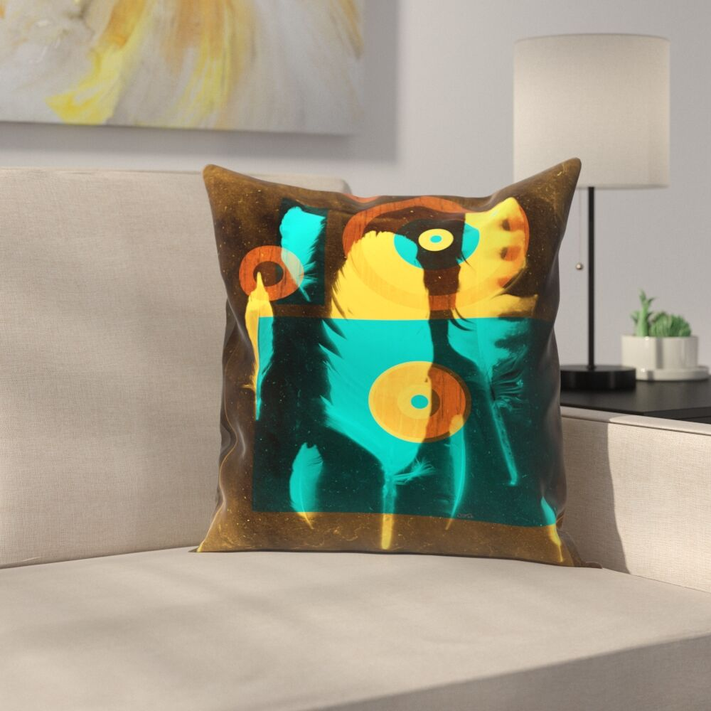 Feathers Throw Pillow Size: 20