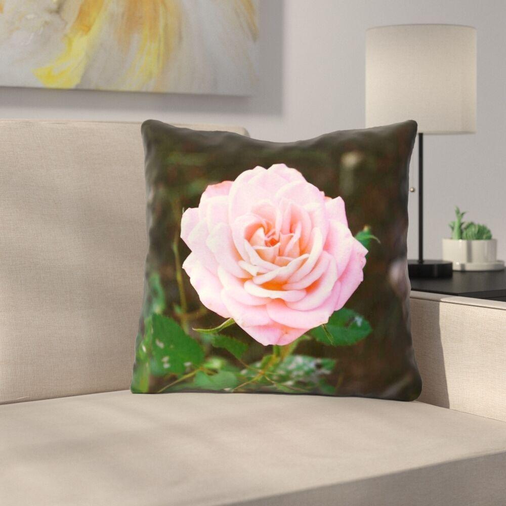 Rose Indoor Throw Pillow Size: 14