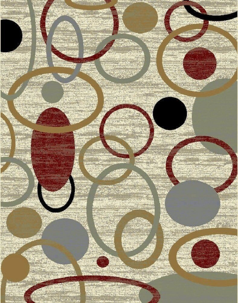 Inispollan Cream/Green Area Rug Rug Size: Rectangle 8' x 11'