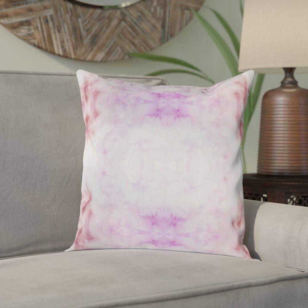Crystal Indoor/Outdoor Throw Pillow Color: Pink / Magenta