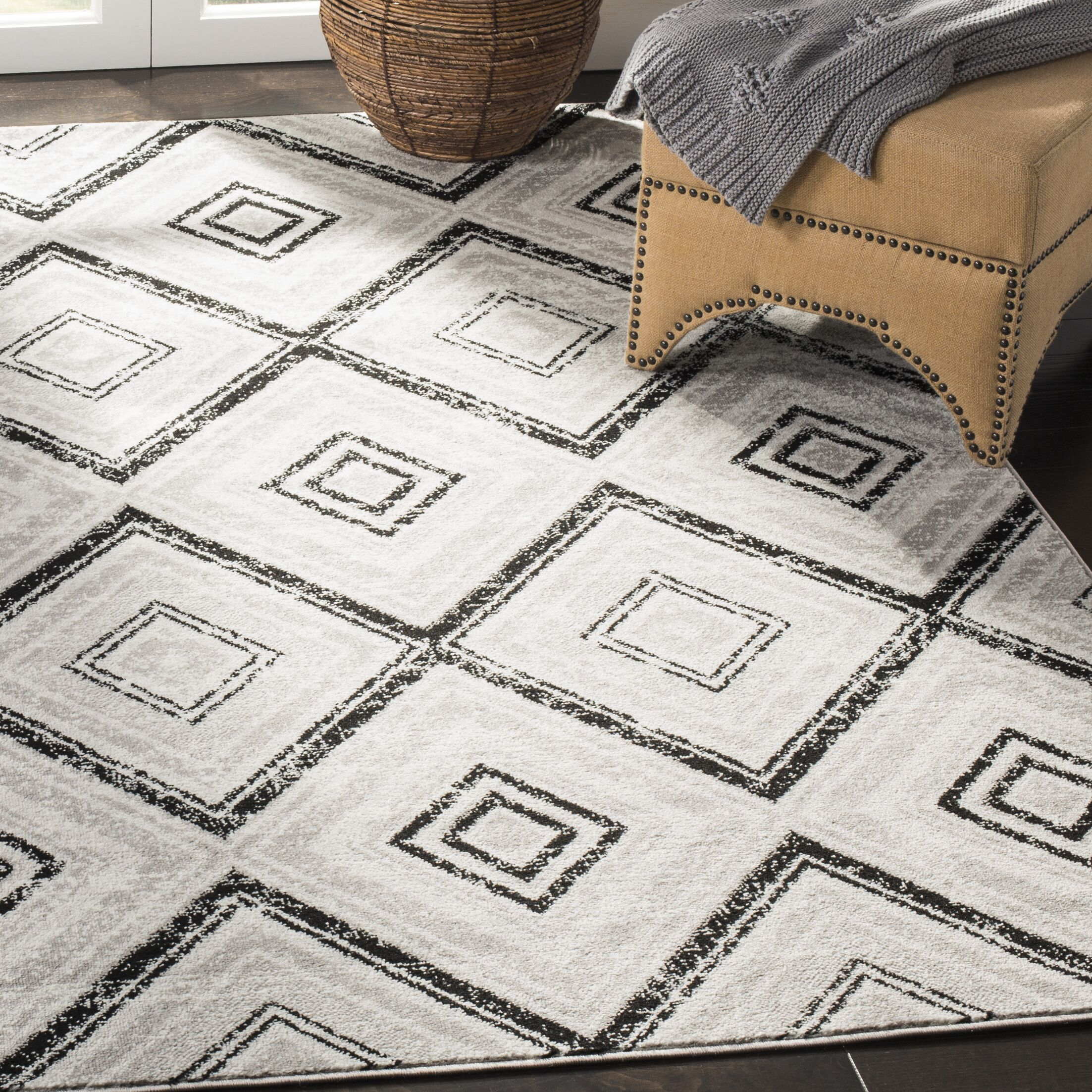 Coghill Gray Area Rug Rug Size: Rectangle 9' x 12'