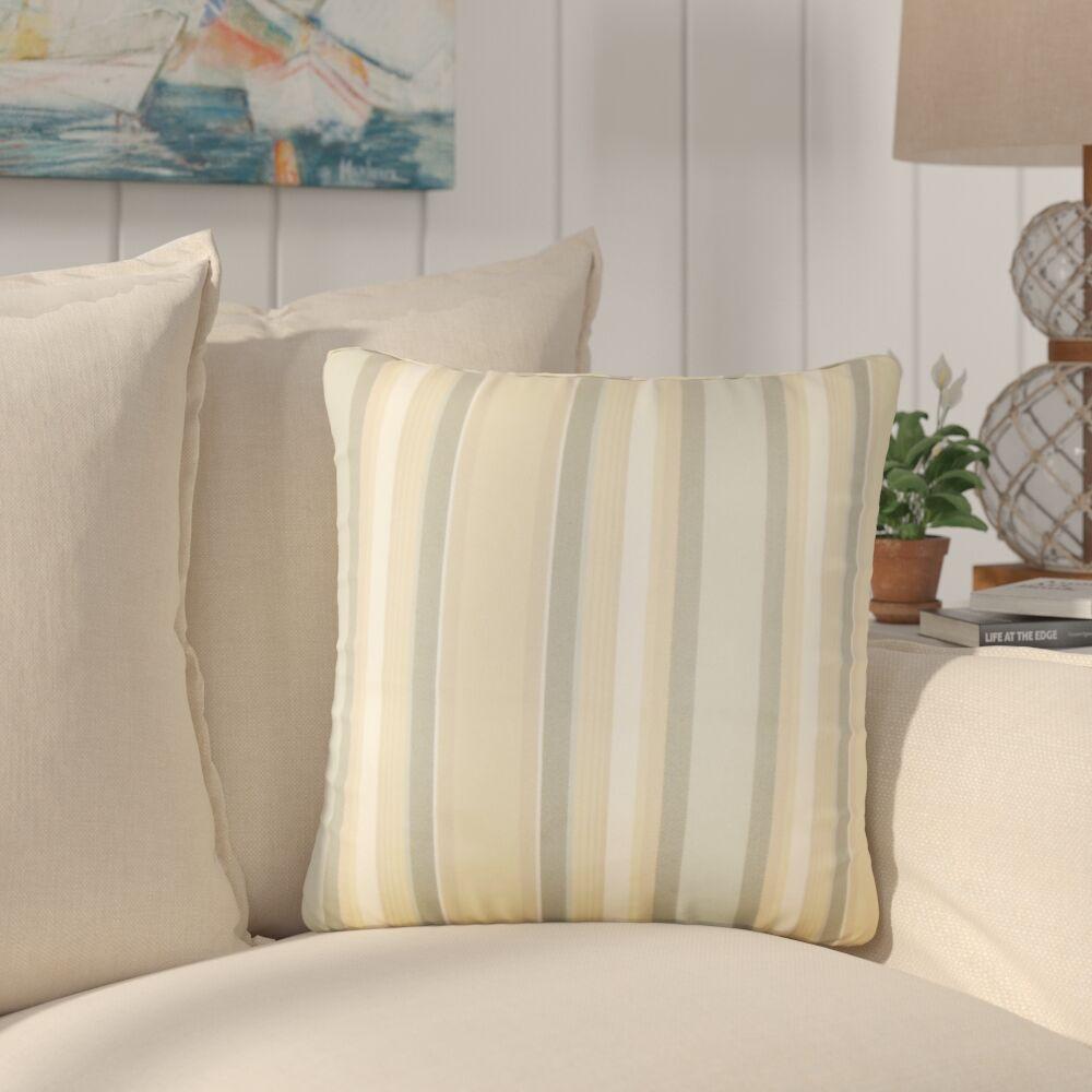 Yeji Striped Cotton Throw Pillow Color: Dune