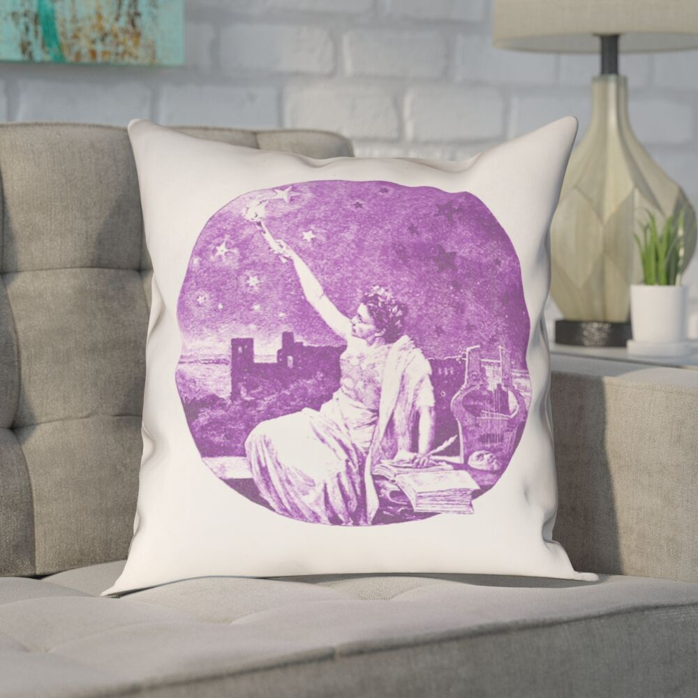 Enciso Blue Vintage Goddess Throw Pillow Size: 36