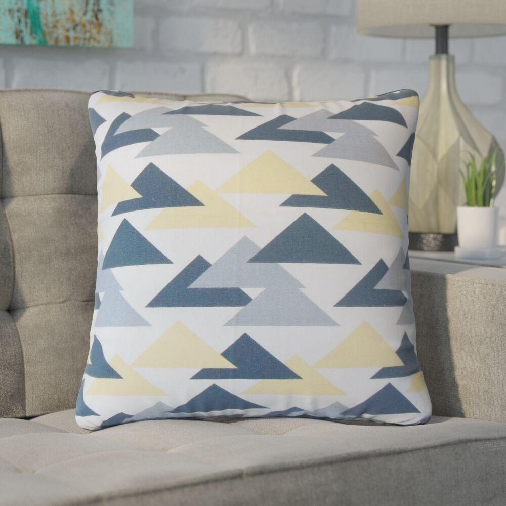 Winkleman Geometric Cotton Throw Pillow Color: Yellow
