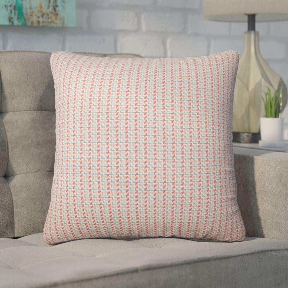 Wojciechowski Plaid Cotton Throw Pillow Color: Apricot
