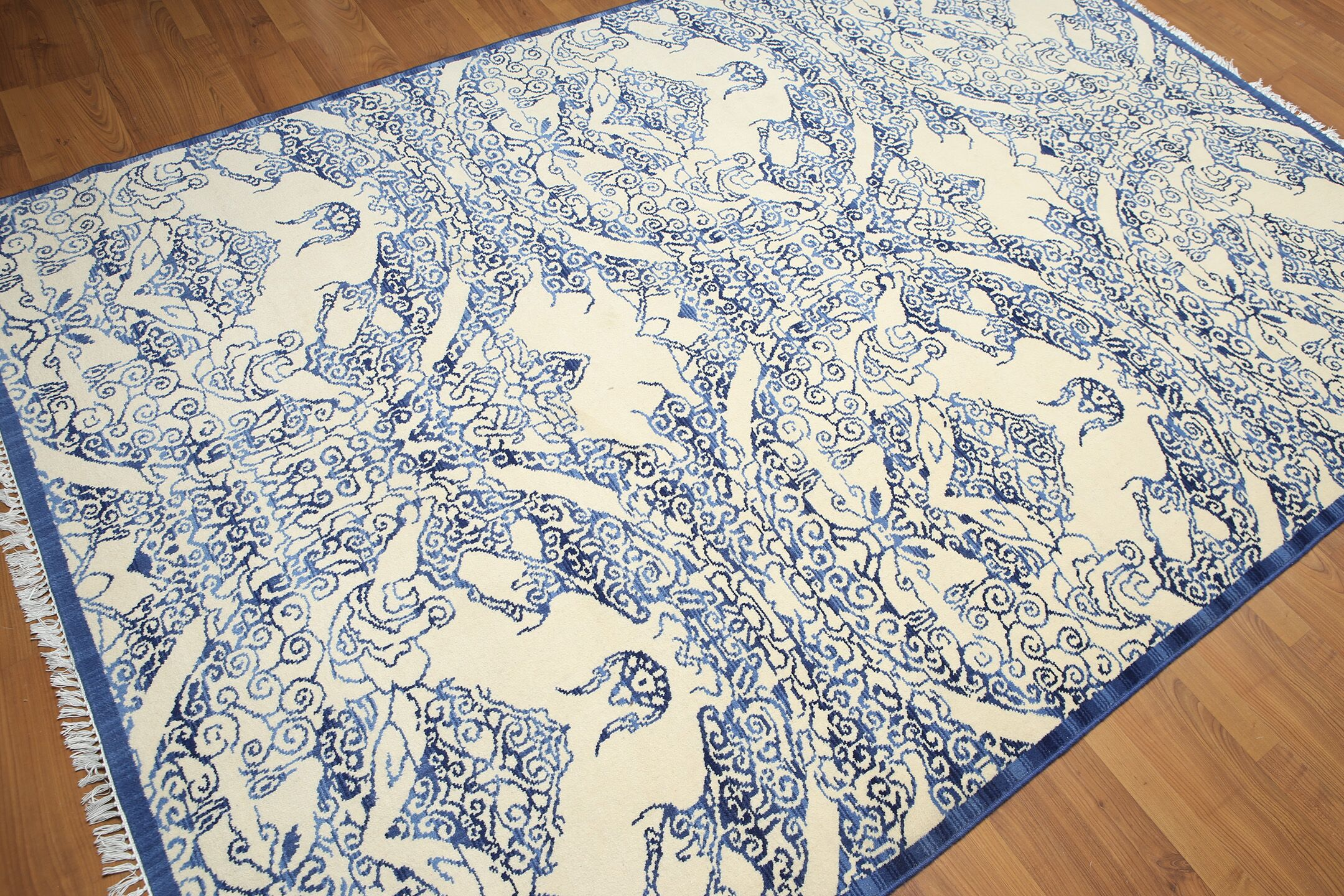 Griswold Wool Off White/Blue Area Rug