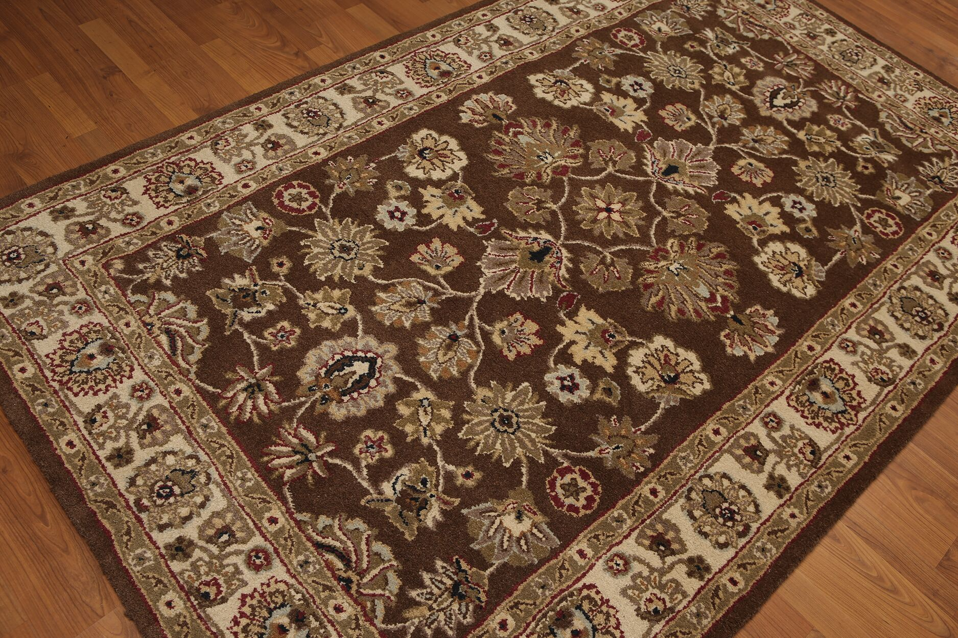 One-of-a-Kind Renken Hand-Tufted Wool Brown/Ivory Area Rug