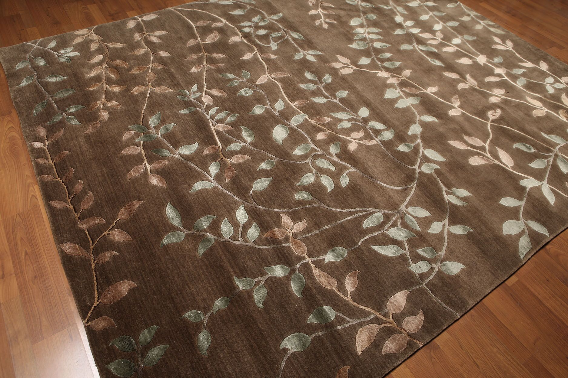 One-of-a-Kind Ecklund Hand-Knotted Wool Brown Area Rug